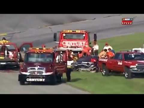 Dale Earnhardt Fatal Crash w/ Dale Jr MRN Interview - Full Speed Replays
