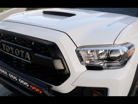 Finally! Tacoma Hood Scoop Swap  ( vlog )