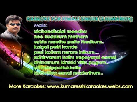 Un Thalaimudi(Kadhalil Vizhunthen)-Tamil Karaoke for Female Singer by S.Kumaresh