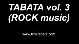 TABATA TIMER \ Табата таймер (ROCK music) VOL. 3 Best Edition