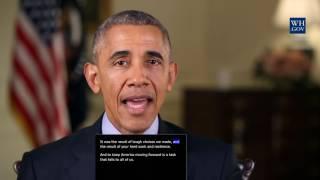 Neujahrsansprache von Obama