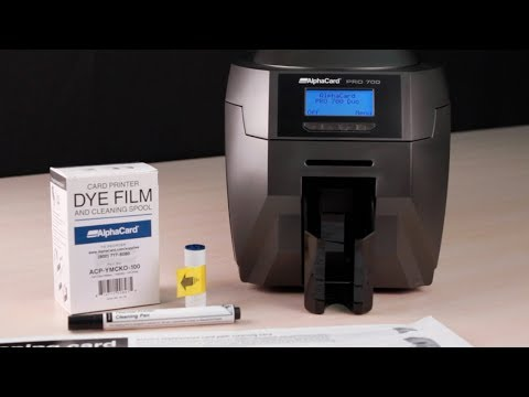 AlphaCard PRO 700 ID Card Printer - How to Clean Your Printer