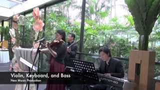 Violin, Keyboard, and Bass - Neo Music Production - Grand Hyatt