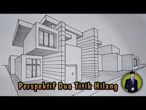 Cara Menggambar Bangunan Dengan Perspektif Dua Titik Hilang Gambar Teknik Otomotif Youtube