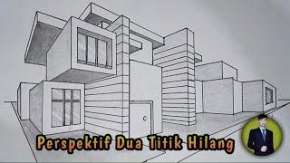 Cara Menggambar Bangunan Dengan Perspektif Dua Titik Hilang Gambar Teknik Otomotif By Hutrianto