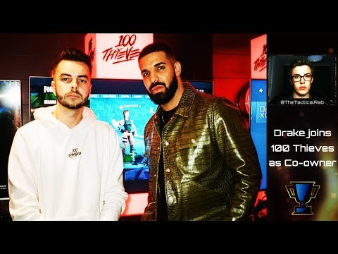 DRAKE becomes Co-Owner of Nadeshot's 100 Thieves! | 100T Scooter Braun Investment Mp3