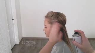 Прическа БЕЗ плойки и ВАЛИКА! | Прически на длинные волосы | Hairstyle for long hair | LOZNITSA