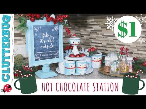 2019 Christmas Tablescapes Collab : DIY Hot Chocolate Station