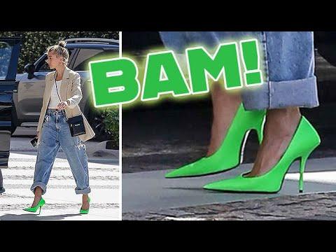 $950 Balenciaga Neon Green Heels