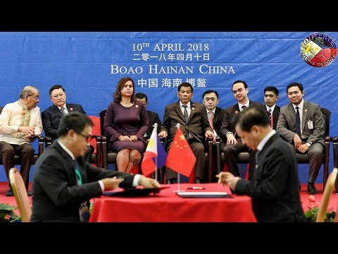 DUTERTE SIGNING CEREMONY OF SEVERAL BUSINESS LETTERS OF INTENT IN BOAO HAINAN PROVINCE, CHINA !