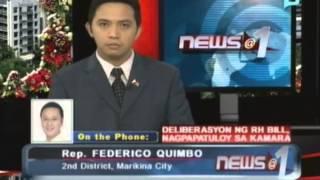Panayam kay Rep. Federico Quimbo, 2nd Dist.,Marikina City - kaugnay sa deliberasyon ng RH Bill