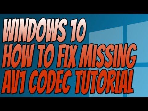 How To Install AV1 Codecs In Windows 10 Tutorial | FIX Missing AV1 Codec