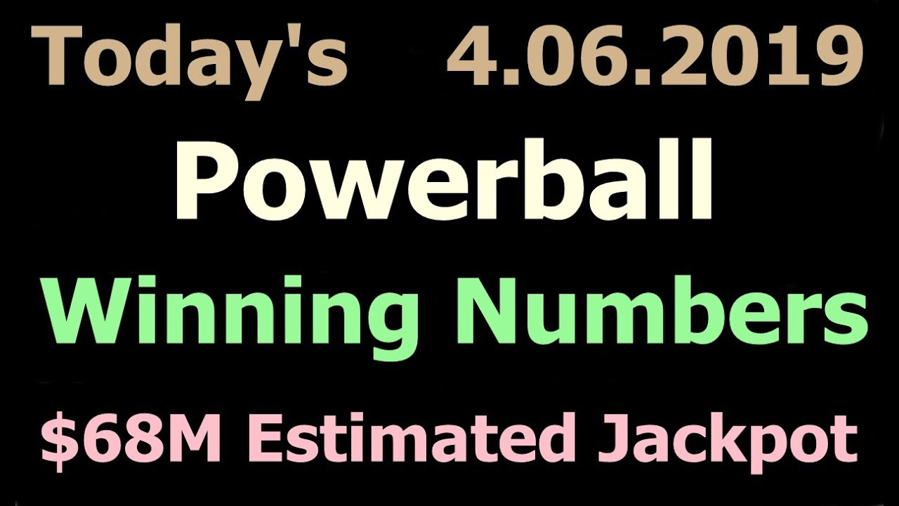 Today Powerball Winning Numbers 6 April 2019 Powerball Drawing