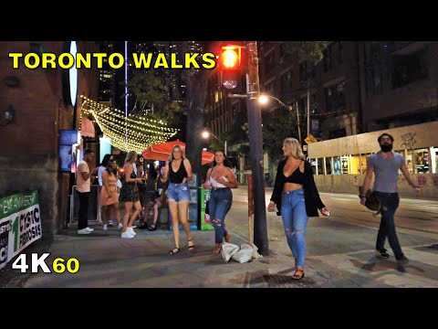 Toronto Stage 3 Nightlife Walk (Narrated) - Downtown on July 31, 2020 [4K]