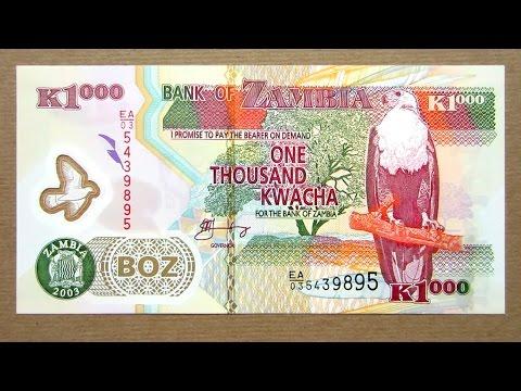 1000 Zambian Kwacha Banknote (Thousand Kwacha Zambia: 2003) Obverse & Reverse