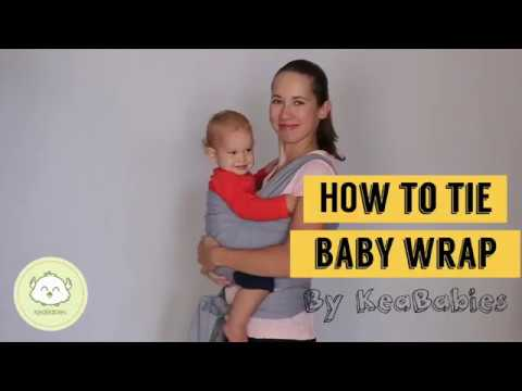 How To Tie A Baby Wrap Carrier Baby Sling Instructions Keababies