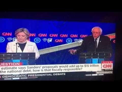 "Bernie Sanders Says ""Damn Right"" To Free College #DemDebate"