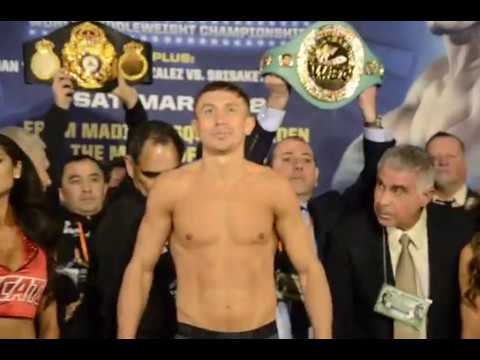 Gennady GGG Golovkin vs Daniel Jacobs Weigh In from Madison Square Garden