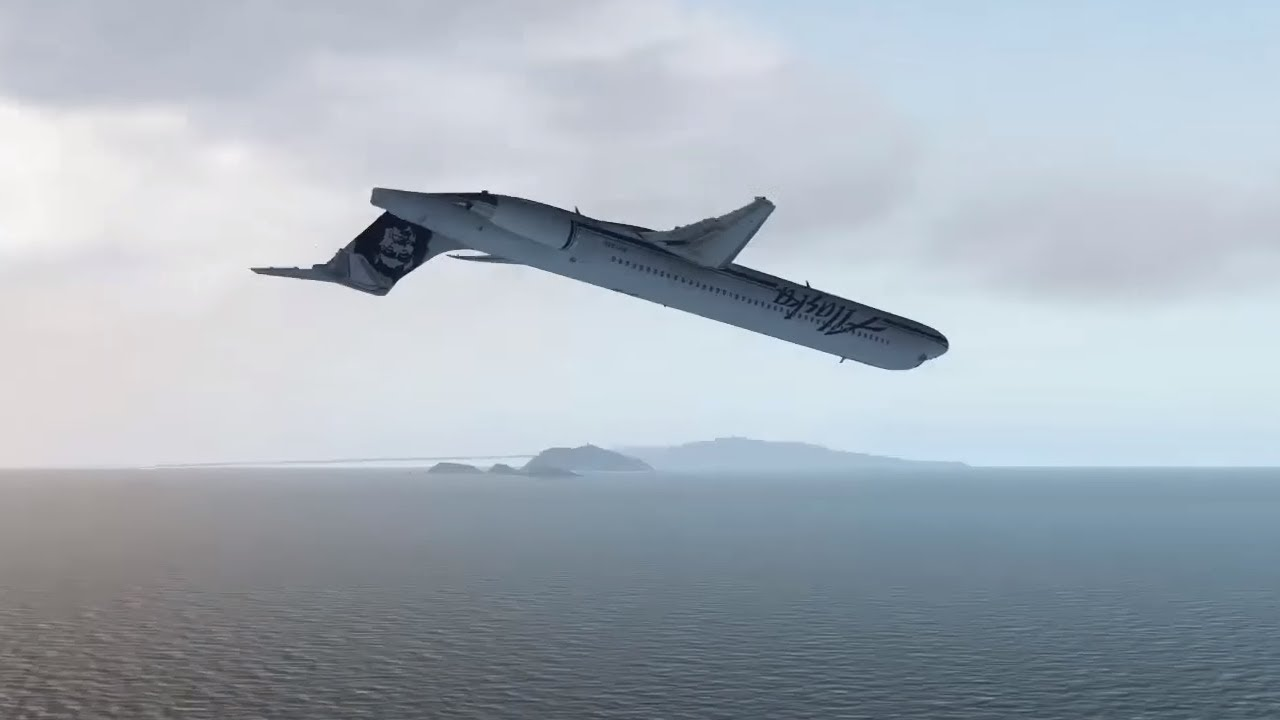Alaska Airlines Flight 261 Crash Animation X Plane 11