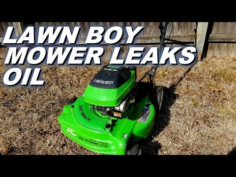 Lawn Boy Mower Leaks Lots Of Oil YouTube