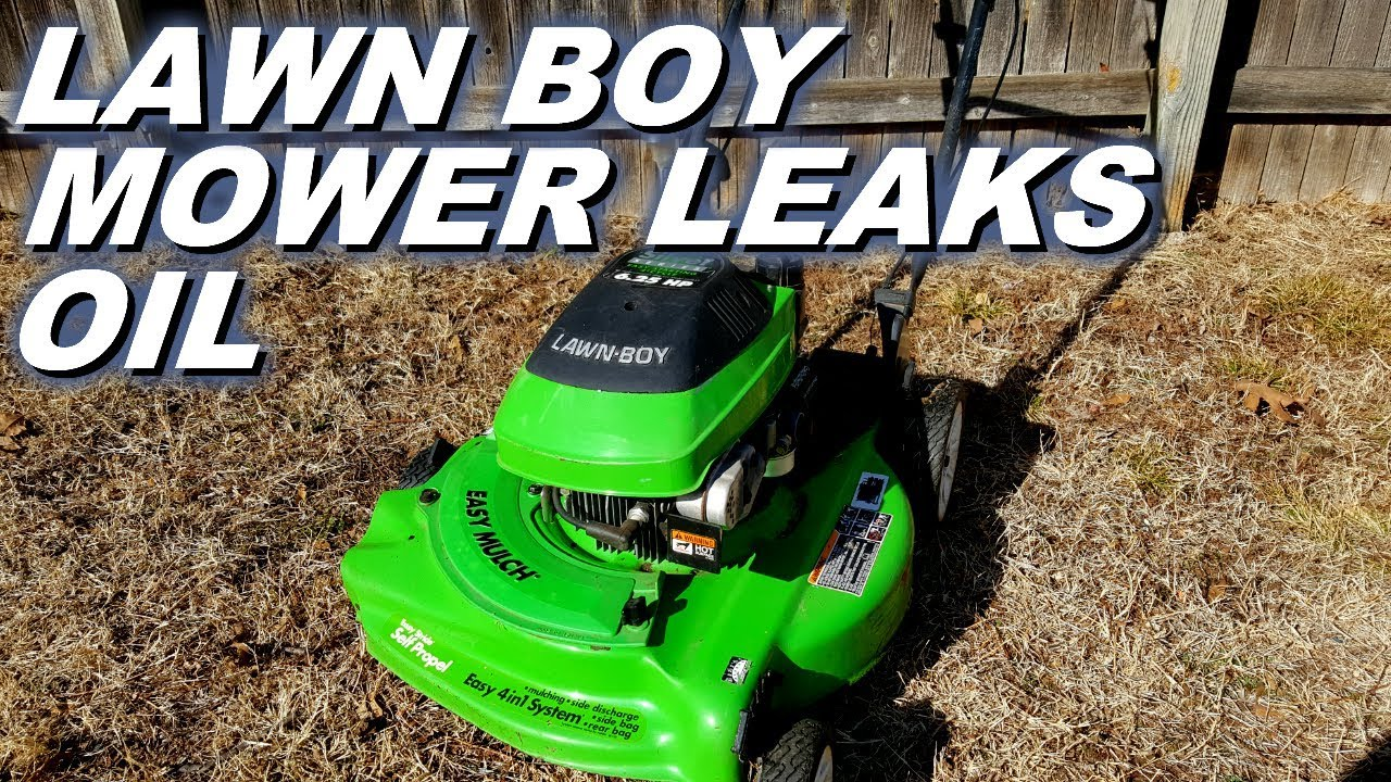 Lawn Boy Mower Leaks Lots Of Oil