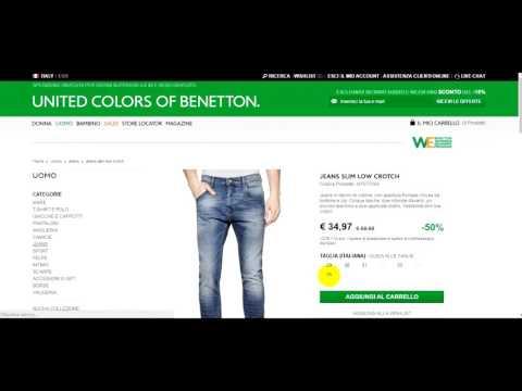 Реєстрація і покупка в інтернет-магазині Benetton