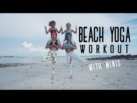 BEACH YOGA | Workout with minis!