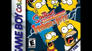 Simpsons: Night of the Living Treehouse of Horror (GBC) Longplay