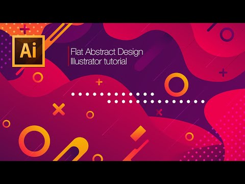 Illustrator Tutorial: How to Create modern red Abstract background thumbnail