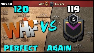 WHF vs Os Jak's | PERFECT AGAIN! | Using Electrone |  Recap | Clash of Clans