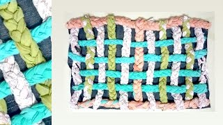 Handmade Doormat With Old Clothes | Doormat Making At Home With Waste Cloth