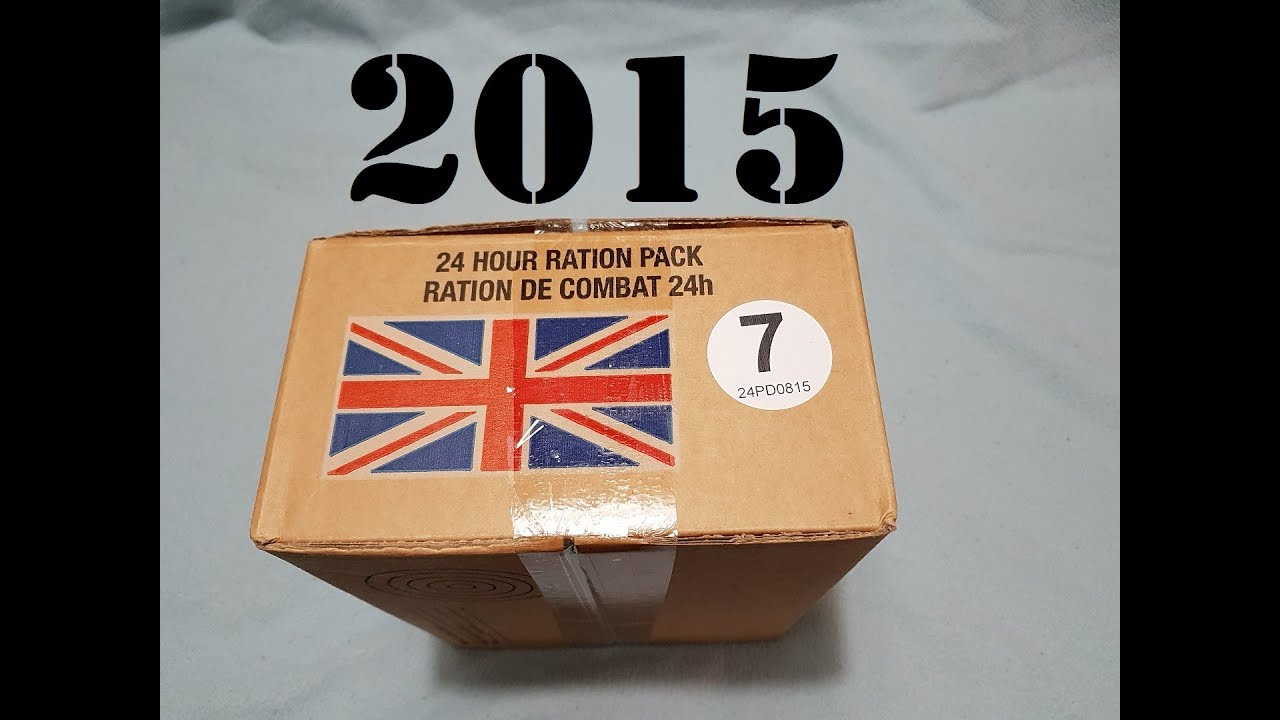 British UK 24 hour combat Operational Ration Pack (ORP)