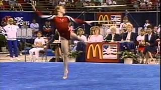 Kim Zmeskal - Floor Exercise - 1991 McDonald's American Cup