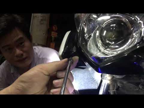 Hướng Dẫn Lắp đặt đèn Led XHP70 L8 Trên Xe Nouvo 5, Nouvo 6