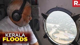 PM Narendra Modi Conducts Aerial Survey, Announces Rs 500 Crore Immediate Aid | Kerala Floods 2018