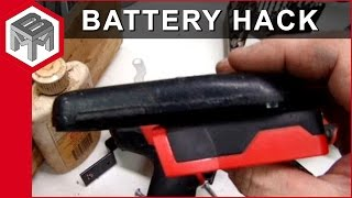 18v nicad to 18 volt lithium ion battery adapter hack for Milwaukee cordless tools