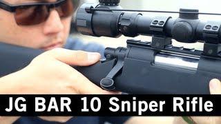 Airsoft Gi - Jg Bar 10 Bolt Action Spring Powered Sniper Rifle Gun Review