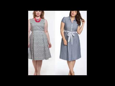 Серые платья для полных женщин