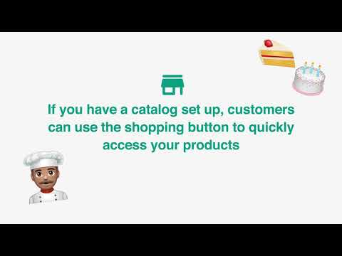 How to use the shopping button on WhatsApp Business