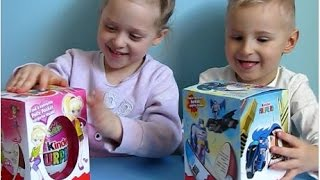 Maxi Kinder Surprise unboxing: Batman,  Polly Pocket Disney Princess Barbie Minnie Angry Birds