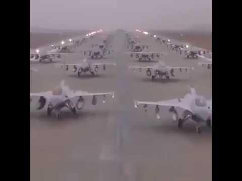 M2,f16,f17 jet landing on motorway Pakistan Zindabad  Pakistan Air Force