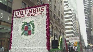 Columbus Day Parade Underway Through New York City