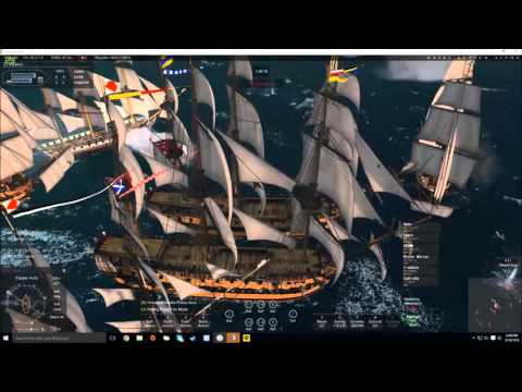 Naval action #3-2 // Pirate attack!!! 25 vs 25