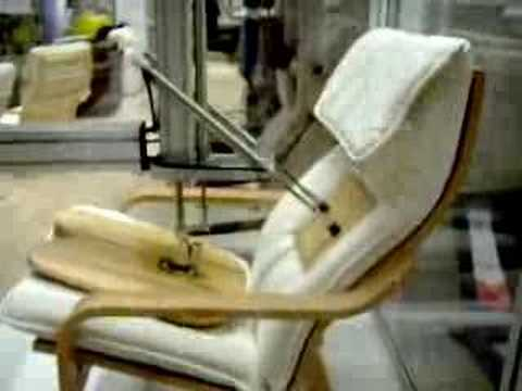 chair testing at ikea youtube. Black Bedroom Furniture Sets. Home Design Ideas