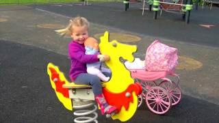 Беби Бон кукла и детская площадка. ВЛОГ Развлечение для детей. Видео для детей КАК МАМА