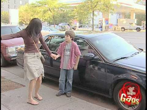 Brat Kid Rips Out Car Mirror