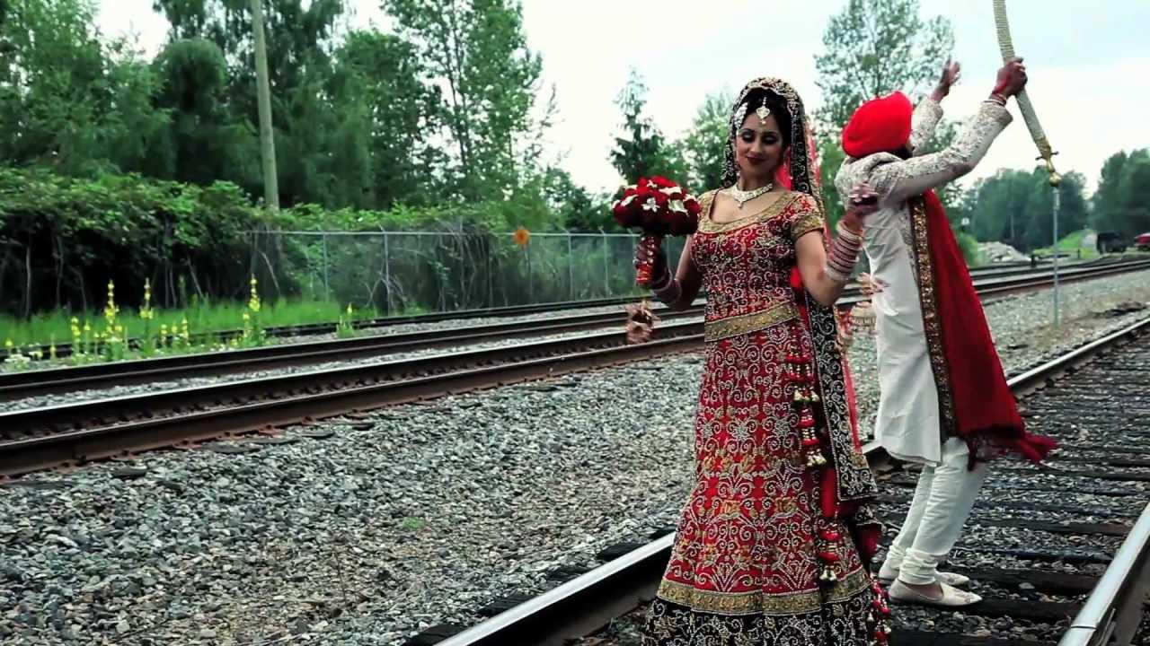 punjabi wedding Cinematic Music Video Dancing Wedding