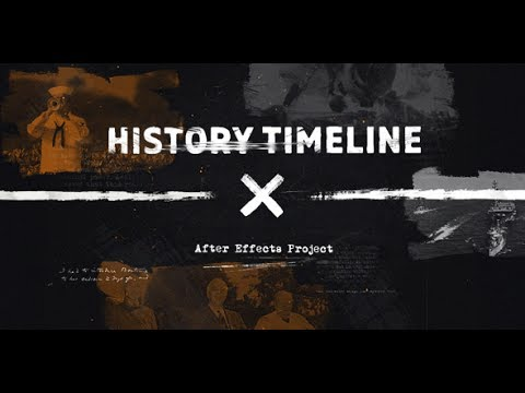 history timeline after effects template youtube