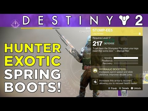 DESTINY 2 has Exotic Spring Boots! [ST0MP-EE5 Exotic Mini