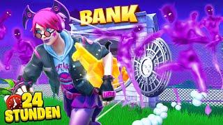 24 STUNDEN ÜBERLEBEN in einer BANK in Fortnite!